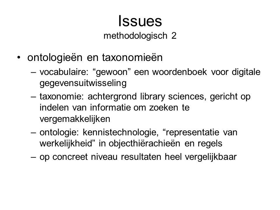 """Issues methodologisch 2 ontologieën en taxonomieën –vocabulaire: """"gewoon"""" een woordenboek voor digitale gegevensuitwisseling –taxonomie: achtergrond l"""