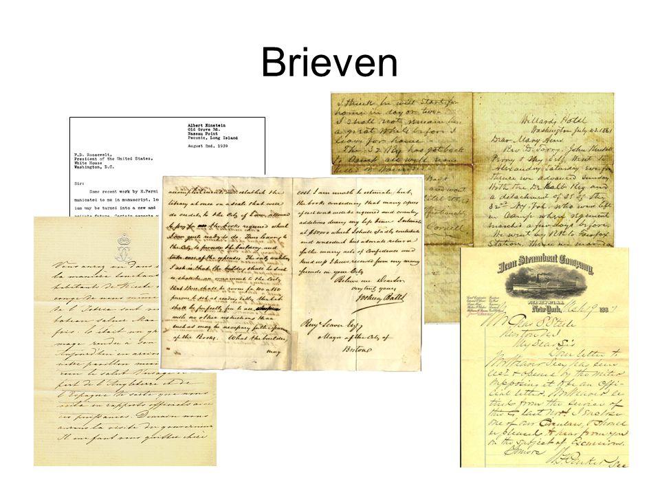 Dikke van Dale brief (de (m.)); brieven) [·1236· <Lat.