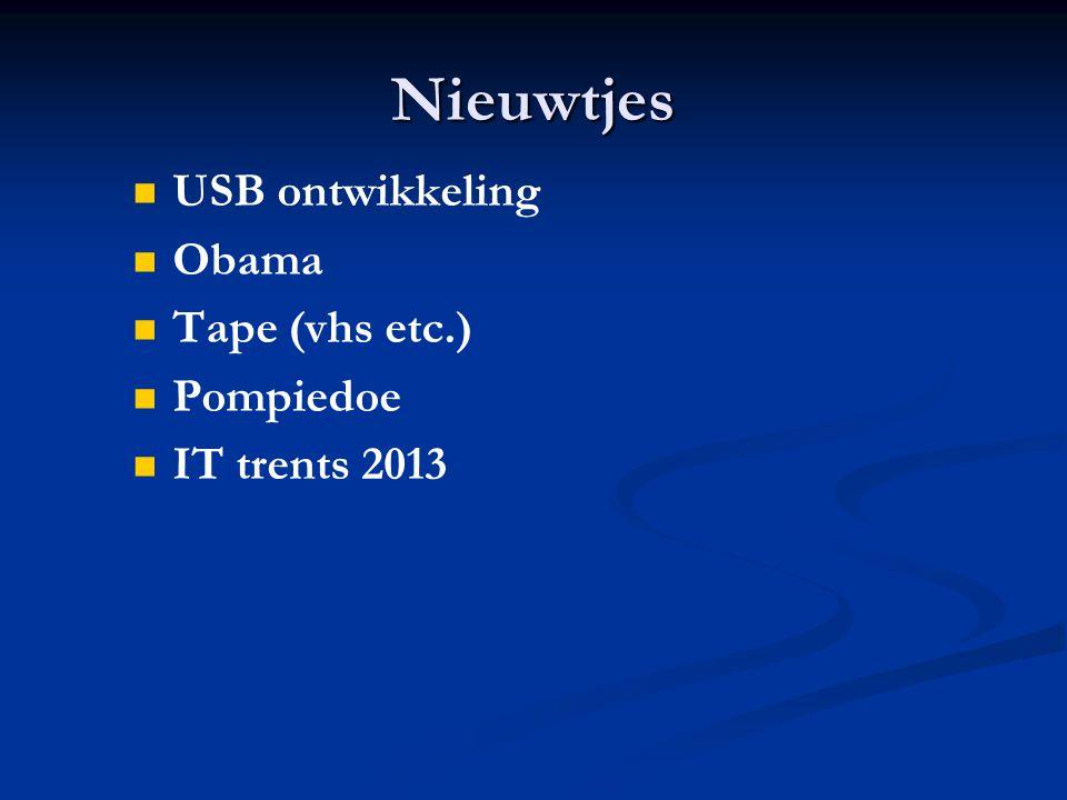 Nieuwtjes USB ontwikkeling Obama Tape (vhs etc.) Pompiedoe IT trents 2013
