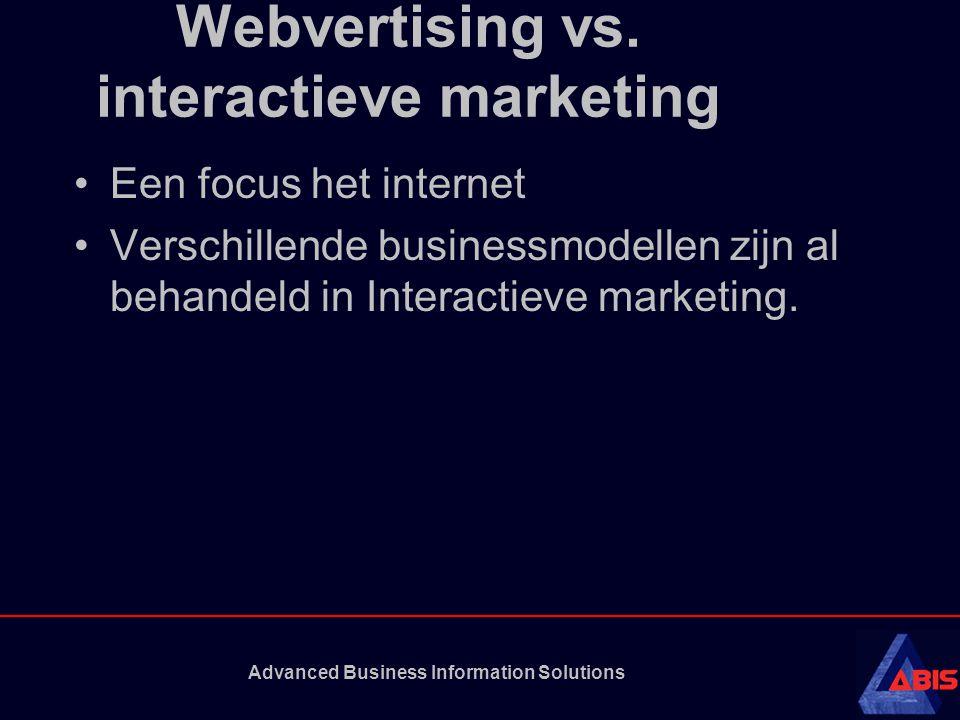 Webvertising vs.