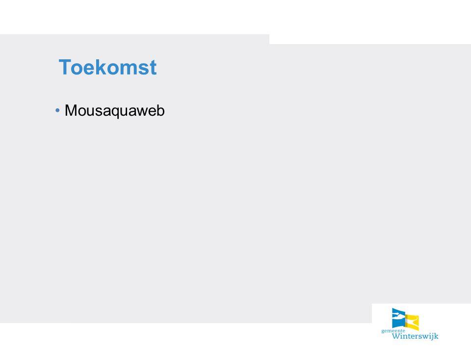 Toekomst Mousaquaweb