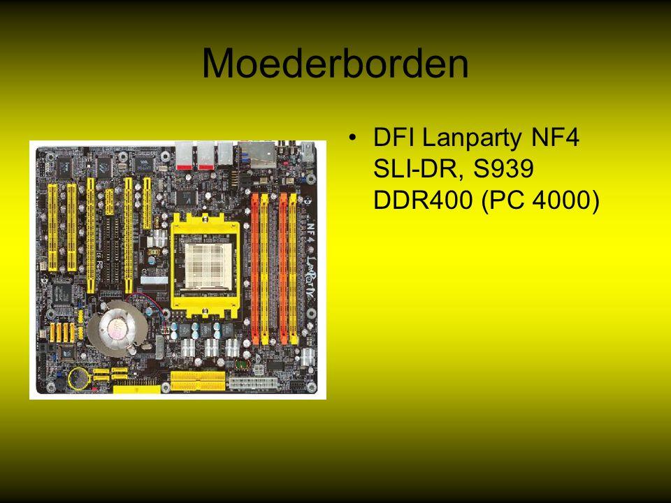 Videokaarten De videokaart van het moment is niet langer Nvida maar ATI Radeon x 1800 Overdracht snelheid 1 Ghz Kloksnelheid 200 Mhz 512 SDDRAM