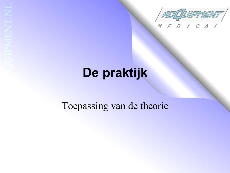 De praktijk Toepassing van de theorie