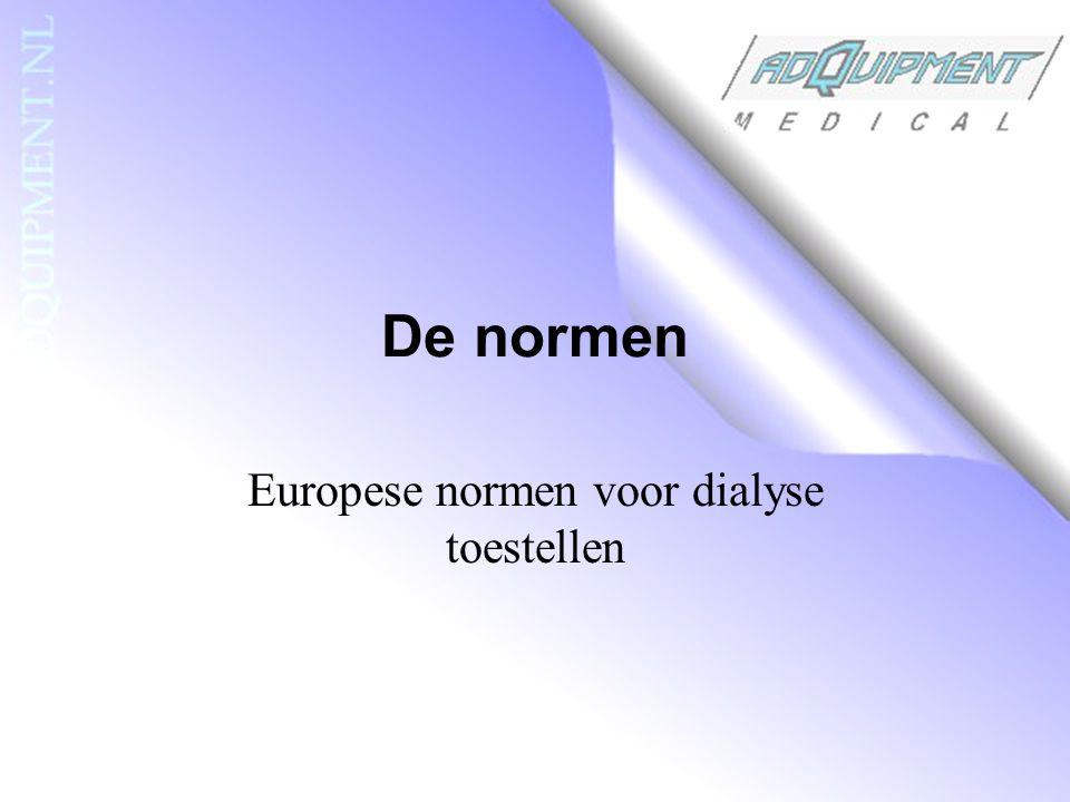 De normen Europese normen voor dialyse toestellen