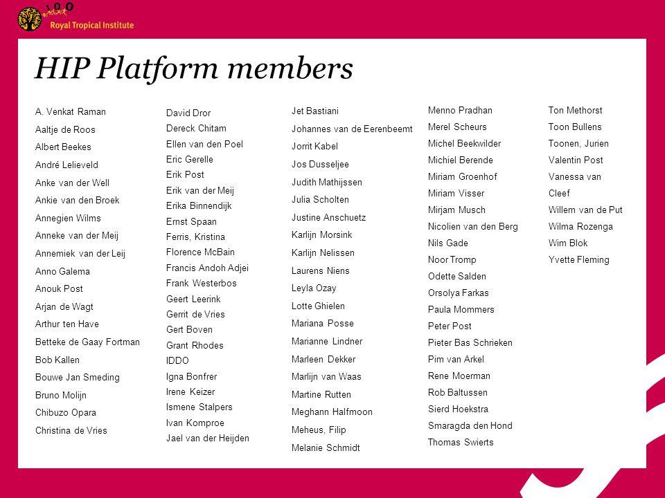 HIP Platform members A.
