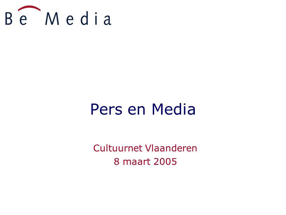 Pers en Media Cultuurnet Vlaanderen 8 maart 2005