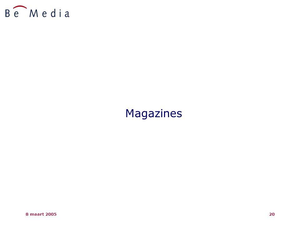 8 maart 200520 Magazines