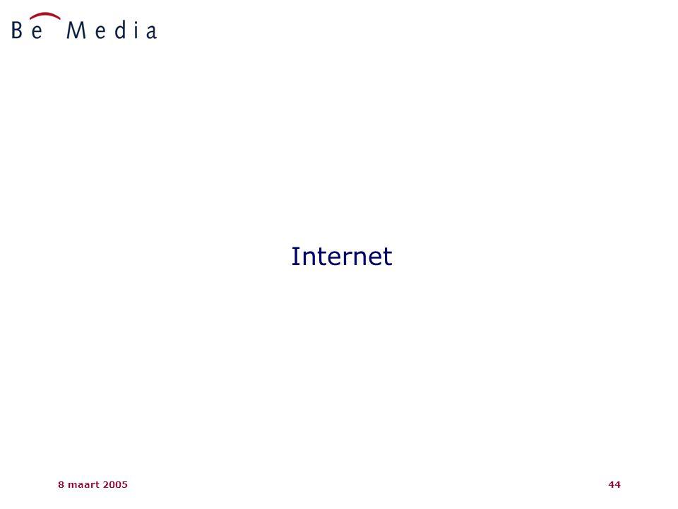 8 maart 200544 Internet
