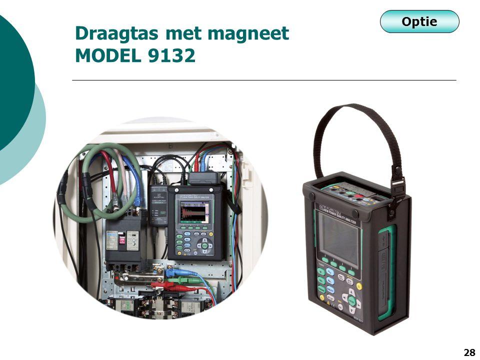 28 Draagtas met magneet MODEL 9132 Optie