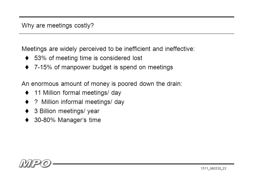 1311_980330_23 Why are meetings costly.