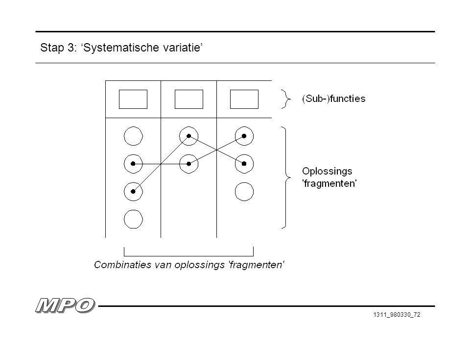 1311_980330_72 Stap 3: 'Systematische variatie'