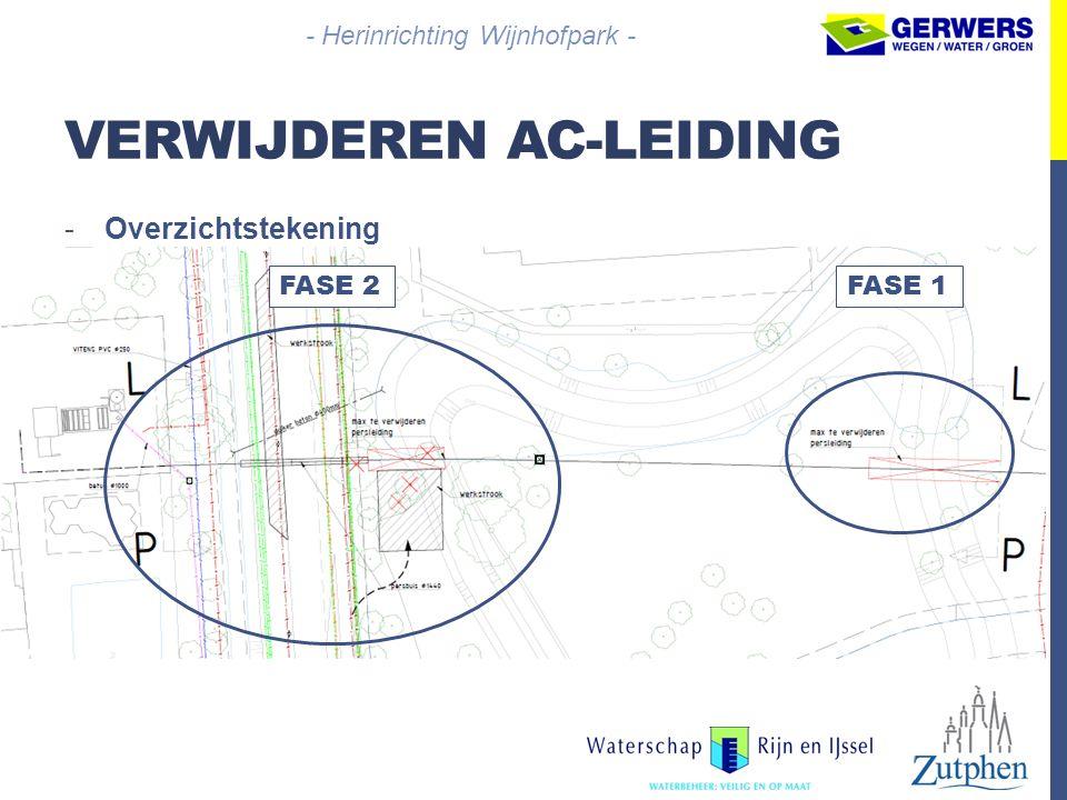 VERWIJDEREN AC-LEIDING -Overzichtstekening - Herinrichting Wijnhofpark - FASE 2FASE 1