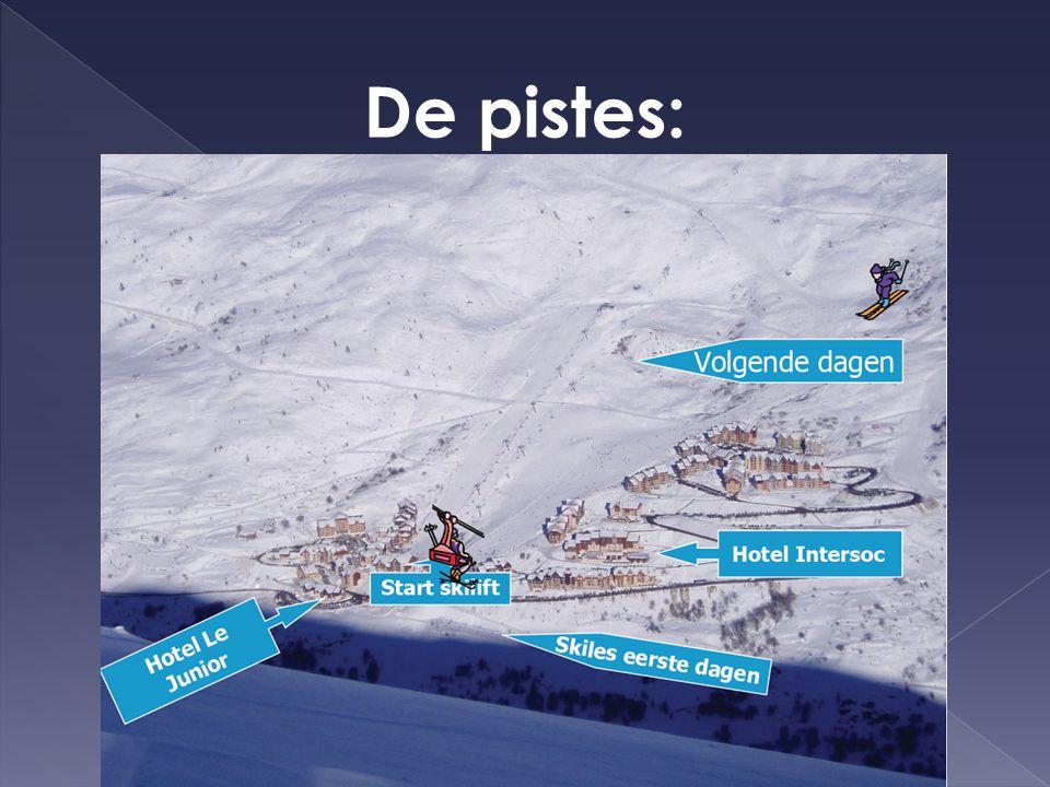 Skiën:  2 1/2 uur per dag. Voor- of namiddag.  Verplaatsing: te voet.