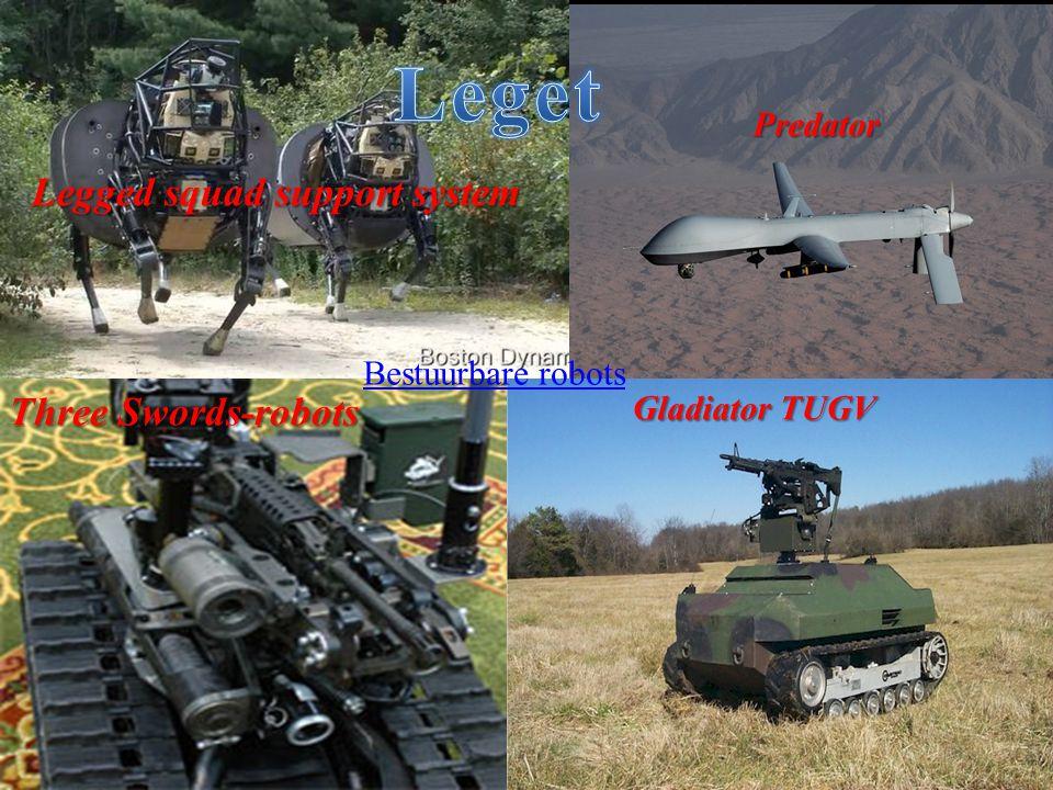 Legged squad support system Predator Three Swords-robots Gladiator TUGV Bestuurbare robots