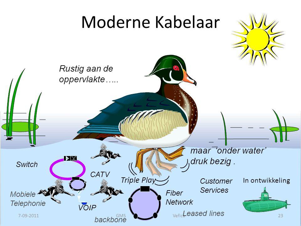 Moderne Kabelaar Rustig aan de oppervlakte…..maar 'onder water' druk bezig.