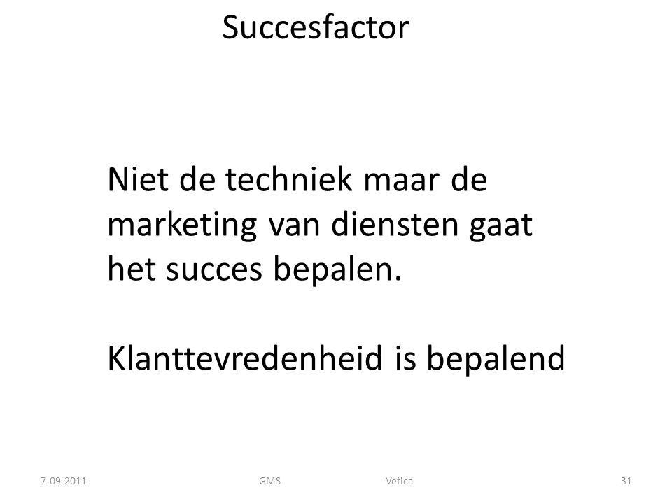 Niet de techniek maar de marketing van diensten gaat het succes bepalen.