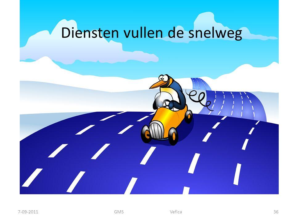 Diensten vullen de snelweg 7-09-201136GMS Vefica