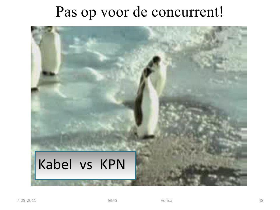 Pas op voor de concurrent! Kabel vs KPN 7-09-201148GMS Vefica