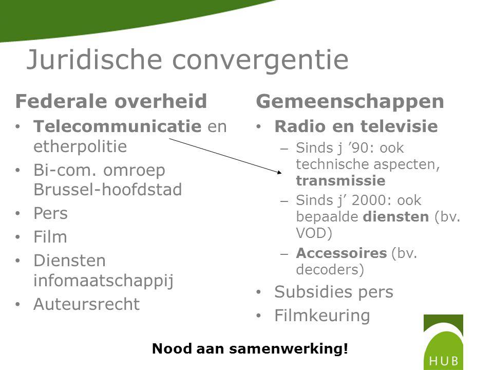 Juridische convergentie Federale overheid Telecommunicatie en etherpolitie Bi-com.