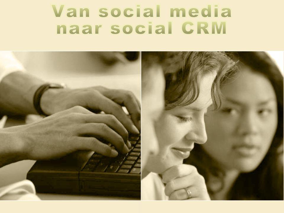 Van social media naar social CRM Social media audit Strategie Implementatie Plan