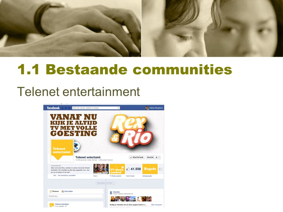 1.1 Bestaande communities Telenet entertainment