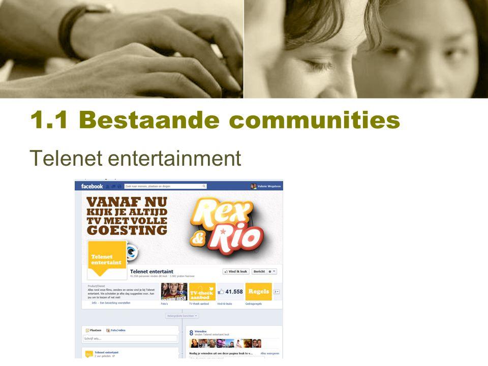 1.1 Bestaande communities Media W