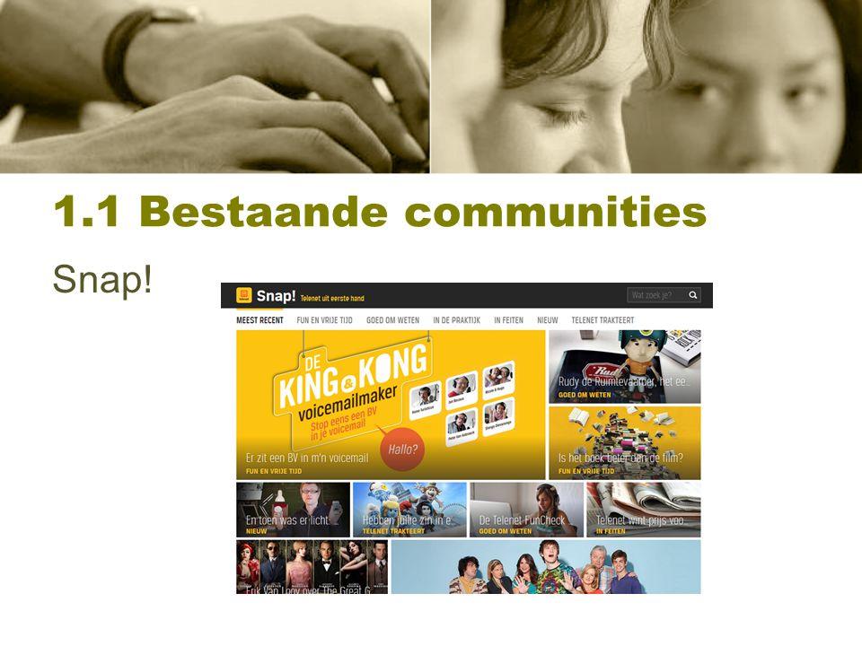 1.1 Bestaande communities Telenet