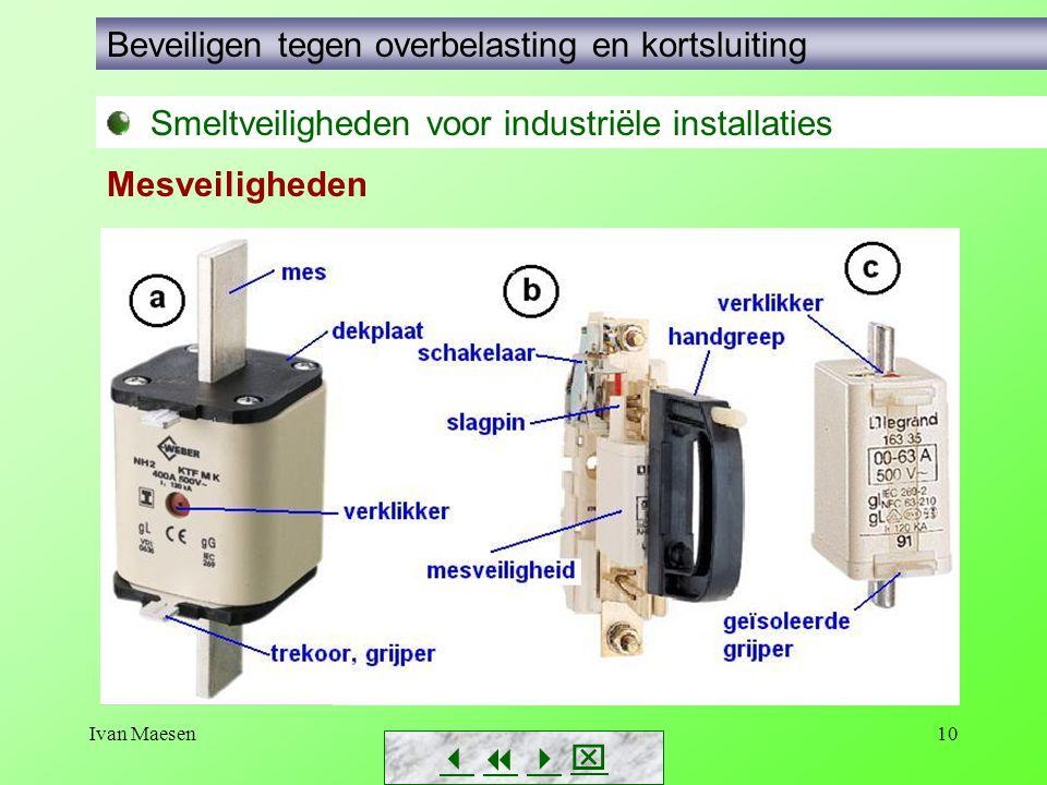 Ivan Maesen10        Smeltveiligheden voor industriële installaties Beveiligen tegen overbelasting en kortsluiting Mesveiligheden
