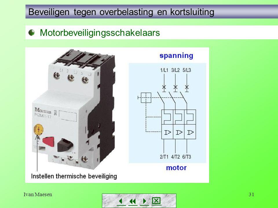 Ivan Maesen31        Motorbeveiligingsschakelaars Beveiligen tegen overbelasting en kortsluiting