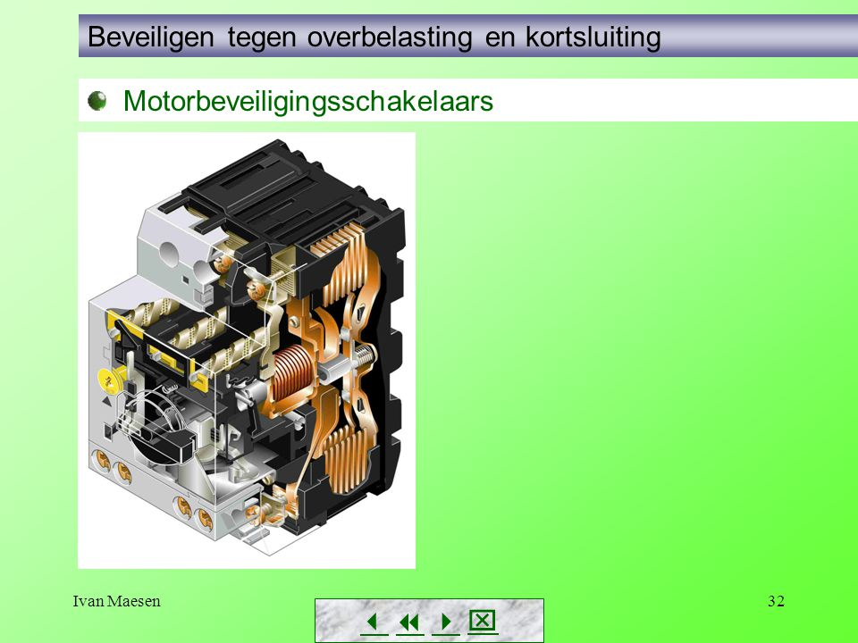 Ivan Maesen32        Motorbeveiligingsschakelaars Beveiligen tegen overbelasting en kortsluiting