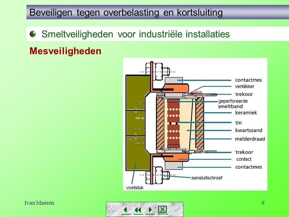 Ivan Maesen9        Smeltveiligheden voor industriële installaties Beveiligen tegen overbelasting en kortsluiting Mesveiligheden