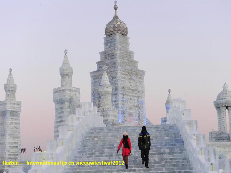 Harbin --- Internationaal ijs en sneeuwfestival 2012