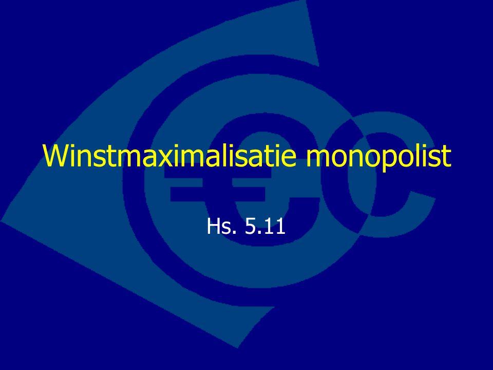 Winstmaximalisatie monopolist Hs. 5.11