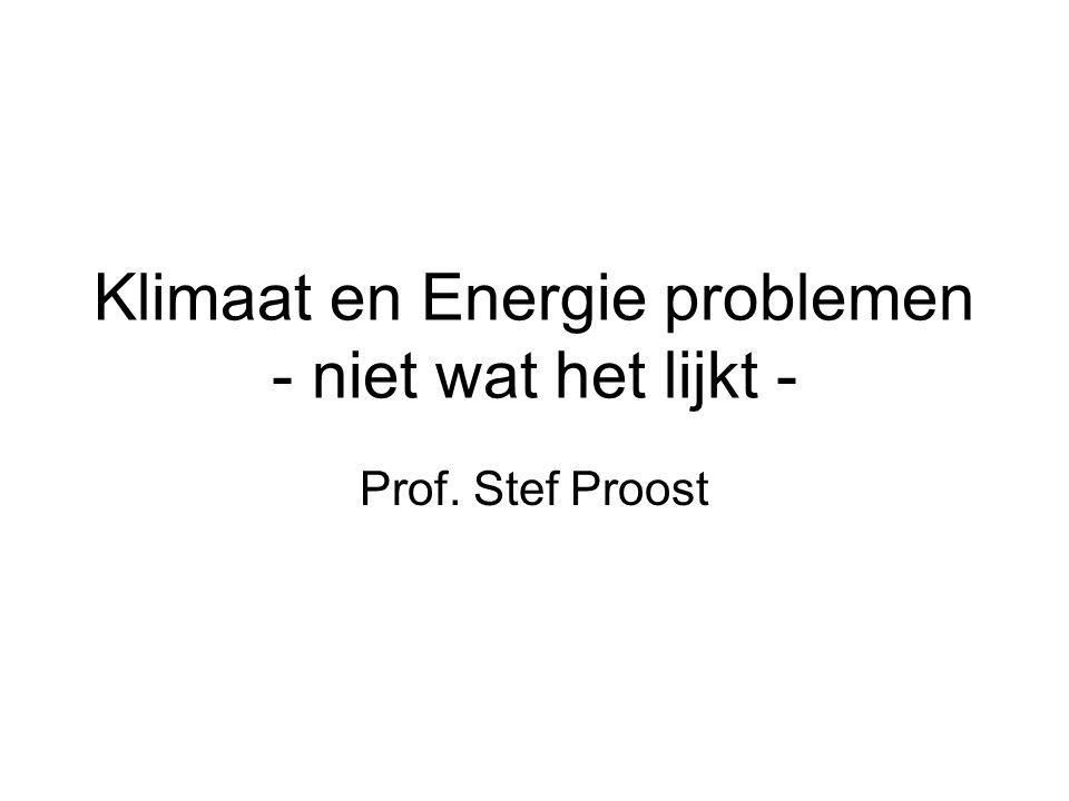 Klimaat en Energie problemen - niet wat het lijkt - Prof. Stef Proost