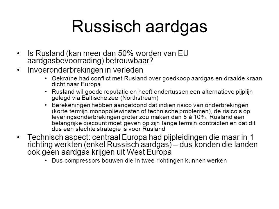 Russisch aardgas Is Rusland (kan meer dan 50% worden van EU aardgasbevoorrading) betrouwbaar? Invoeronderbrekingen in verleden Oekraïne had conflict m