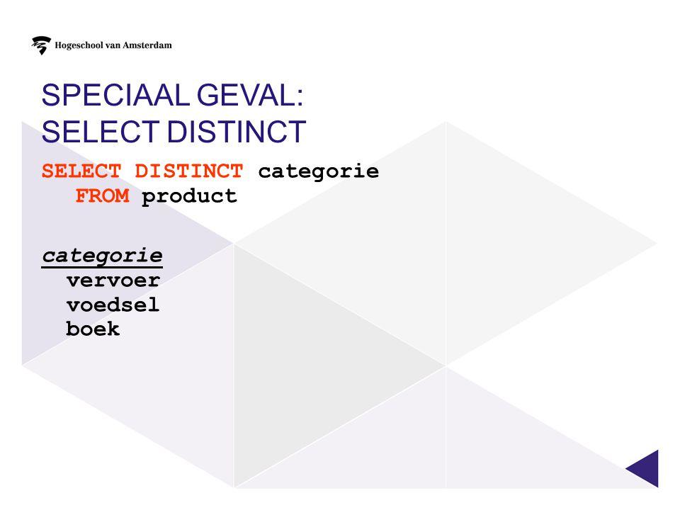VANDAAG Gegevens selecteren uit meerdere 'gekoppelde' tabellen.