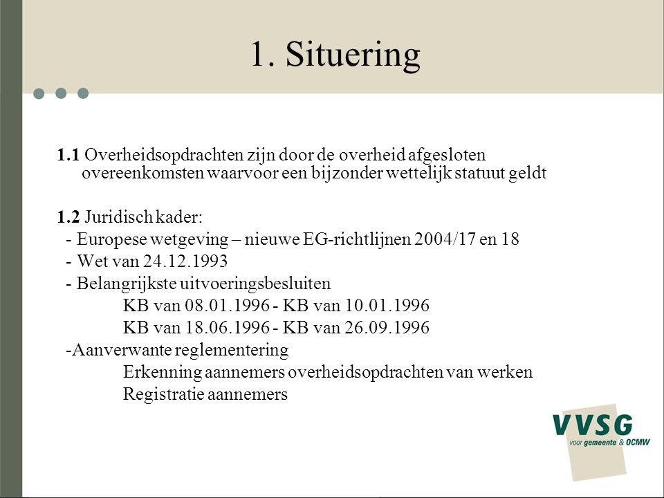 1.Situering - Andere toepasselijke regelgeving, zoals bv.