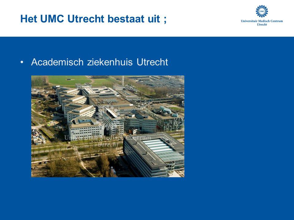 Het UMC Utrecht bestaat uit ; Wilhelmina Kinderziekenhuis