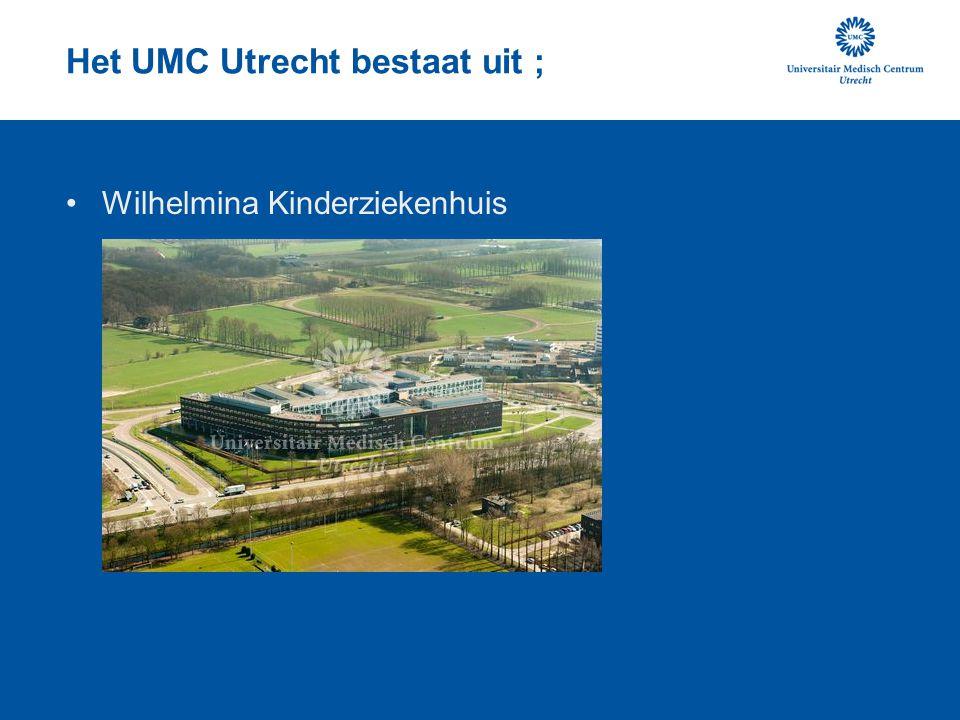 Het UMC Utrecht bestaat uit ; Medische faculteit Utrecht