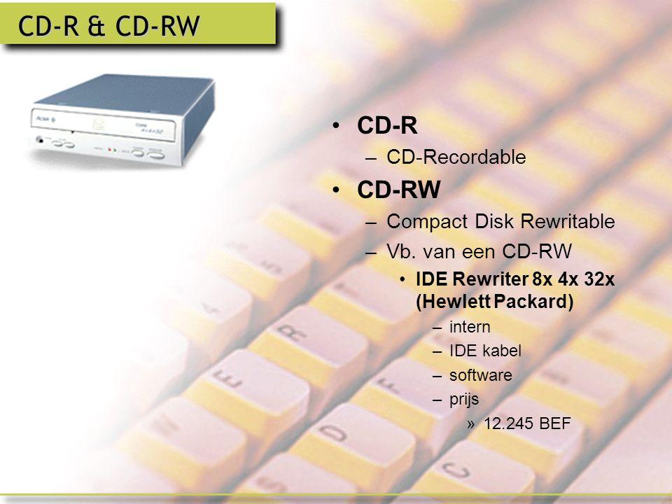 CD-ROM Wat.Structuur Capaciteit –650 MB Vb.
