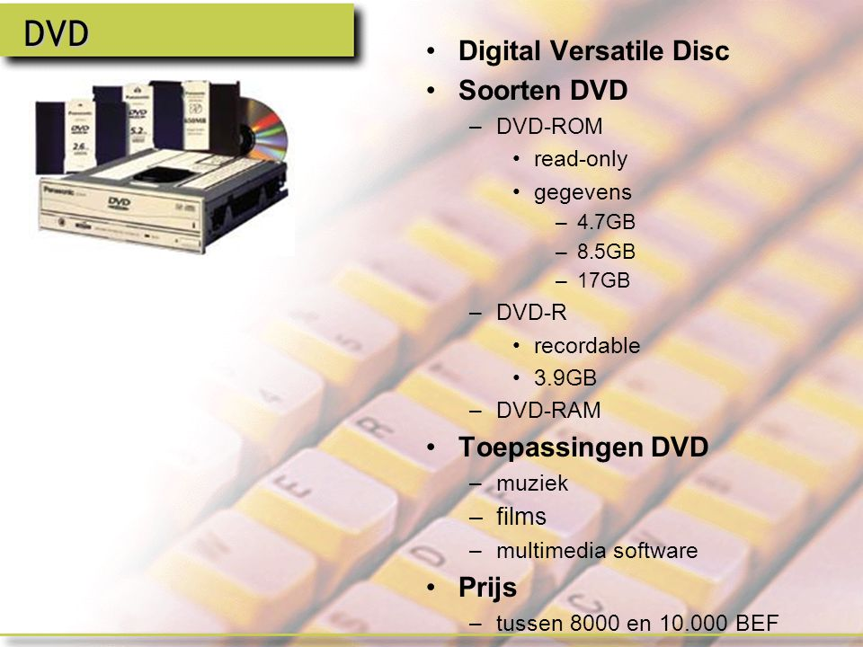 CD-R & CD-RW CD-R –CD-Recordable CD-RW –Compact Disk Rewritable –Vb.