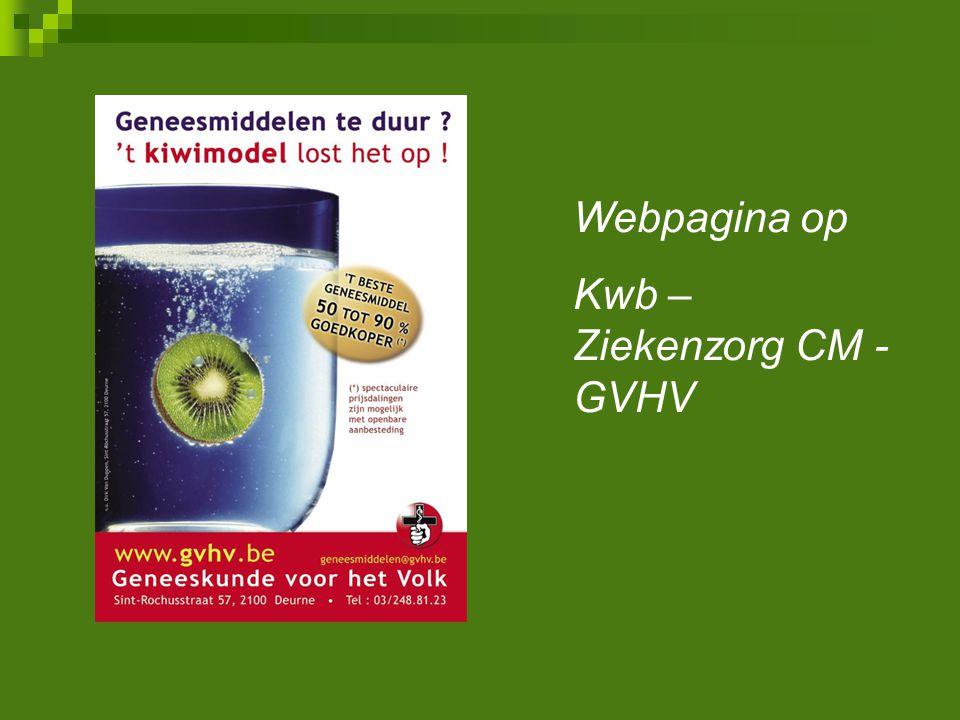 Webpagina op Kwb – Ziekenzorg CM - GVHV
