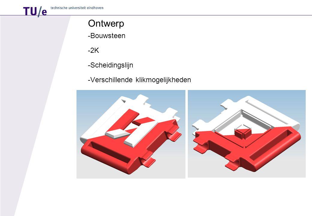 Ontwerp -Bouwsteen -2K -Scheidingslijn -Verschillende klikmogelijkheden