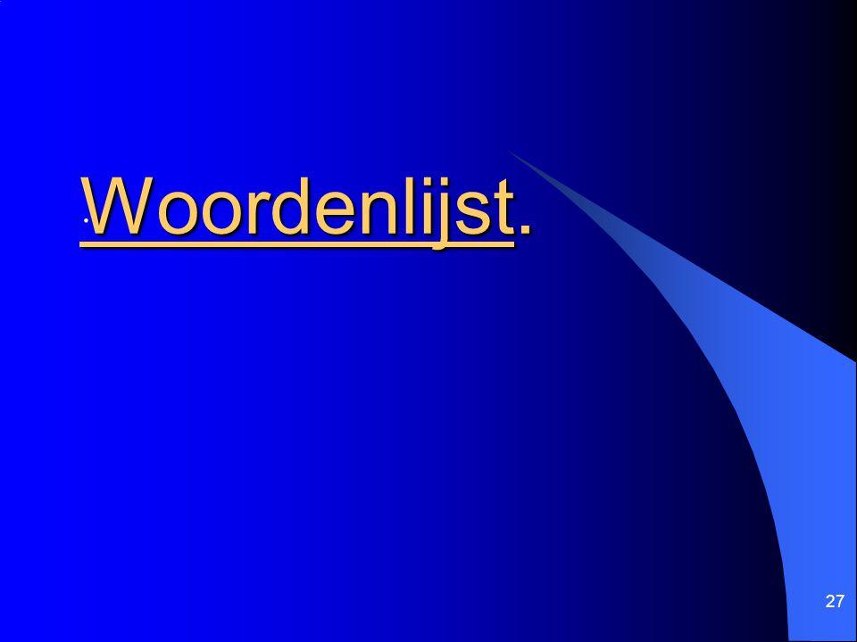 27 Woordenlijst..