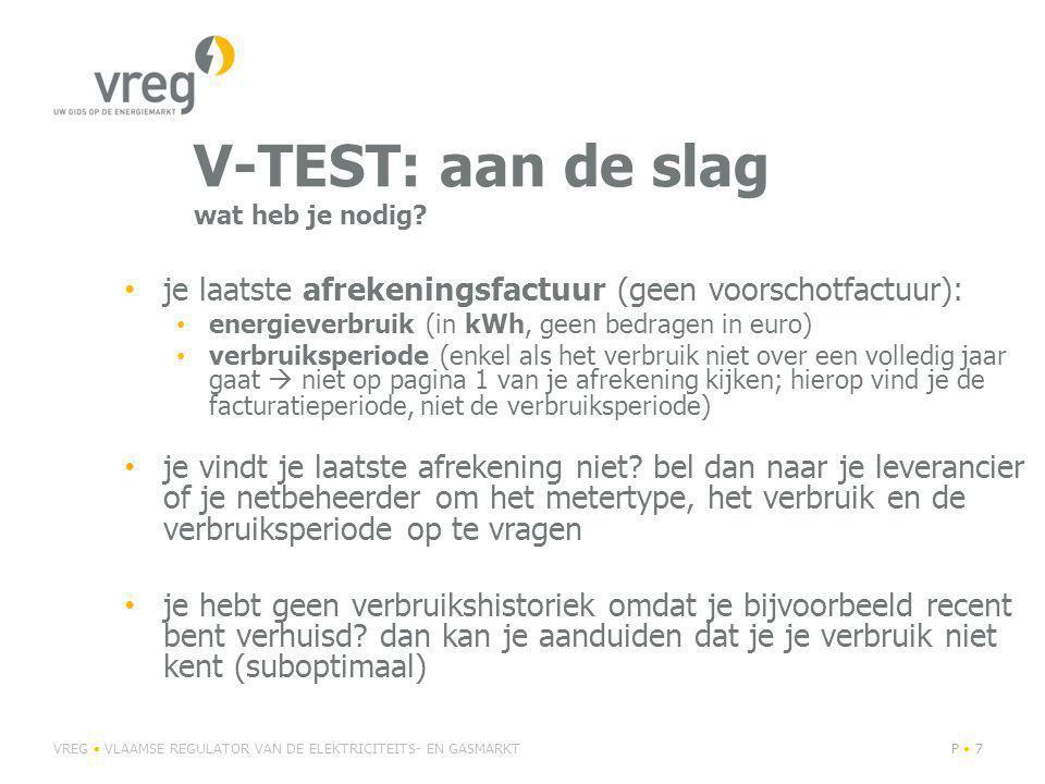 V-TEST: aan de slag wat heb je nodig.