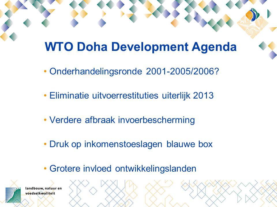 WTO Doha Development Agenda Onderhandelingsronde 2001-2005/2006.