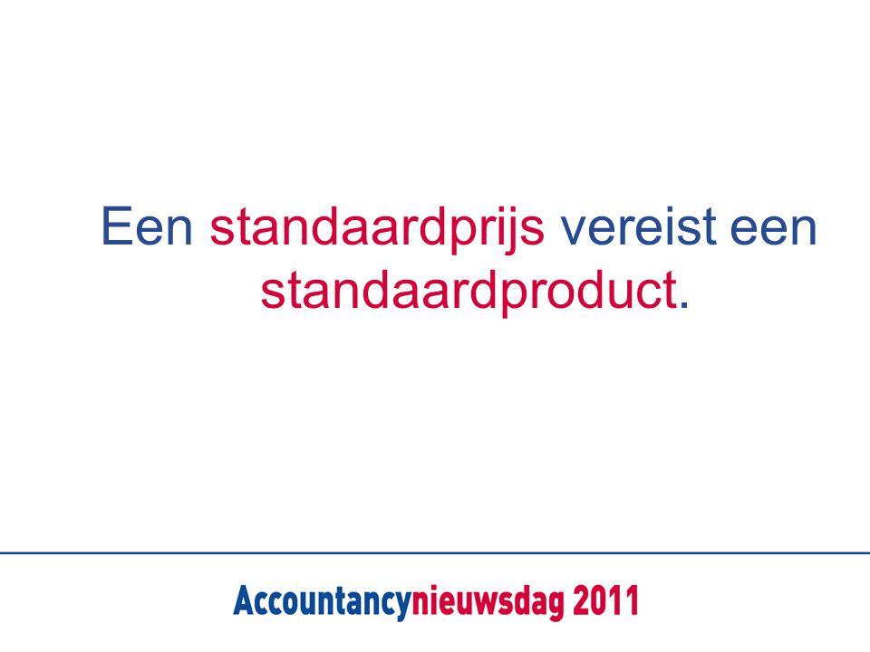 Een standaardprijs vereist een standaardproduct.