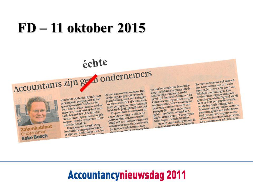 FD – 11 oktober 2015 échte