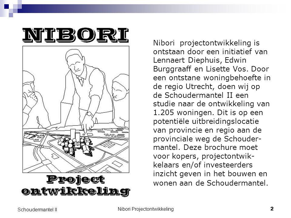 Nibori Projectontwikkeling3 Schoudermantel II De Schoudermantel II 905 koopwoningen In het duurdere segment Vanaf € 255.000,- 300 sociale huurwoningen Huur vanaf € 600,- p.