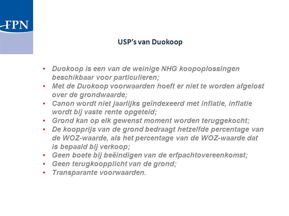 Duokoop is een van de weinige NHG koopoplossingen beschikbaar voor particulieren; Met de Duokoop voorwaarden hoeft er niet te worden afgelost over de